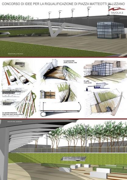 Concorso di idee per la riqualificazione di piazza - Tavole di concorso architettura ...